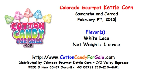 Custom Cotton Candy Label